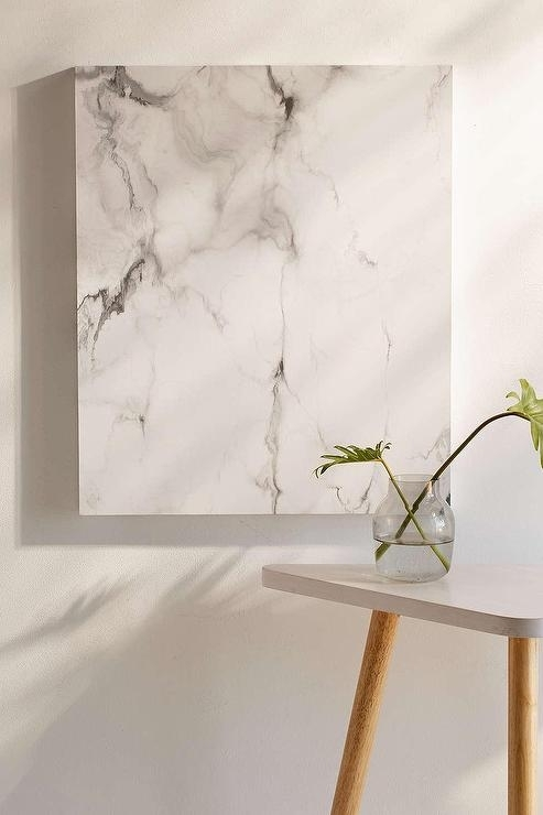 White And Gray Marble Canvas Wall Art In Gray Canvas Wall Art (Image 10 of 10)