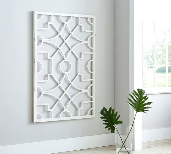White Metal Wall Art Metal Wall Art Pottery Barn In White Metal Wall Regarding Pottery Barn Wall Art (Image 10 of 10)