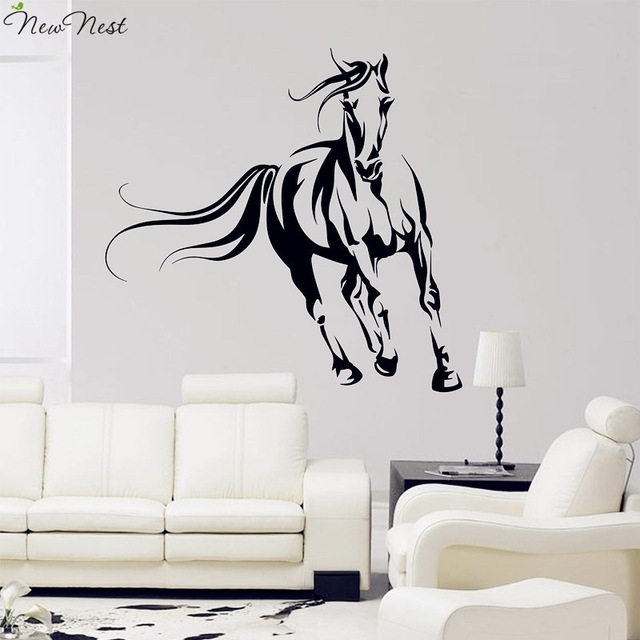Wild Horse Wall Decal Vinyl Stickers, Animals Mural, Horse Running Pertaining To Horse Wall Art (Image 9 of 10)