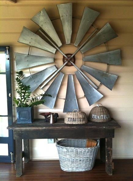 Windmill Wheel Décor For Windmill Wall Art (Image 10 of 10)