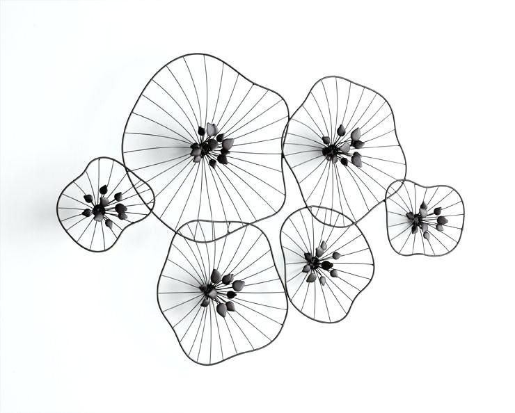 Wire Wall Art Decors Wire Wall Decor Beauteous Iron Wire Floral Wall For Wire Wall Art (Image 10 of 10)