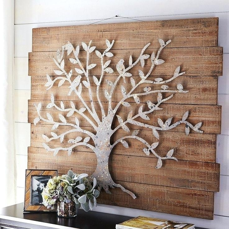 Wood And Metal Wall Panel Decorative Metal Wall Panels Decor Metal With Wood And Metal Wall Art (Image 8 of 10)