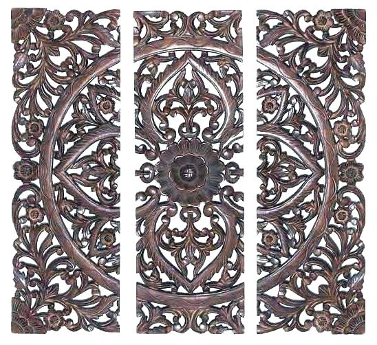 Wood Carvings Wall Decor Carved Medallion Wall Art Wood Medallion With Regard To Wood Medallion Wall Art (Image 8 of 10)