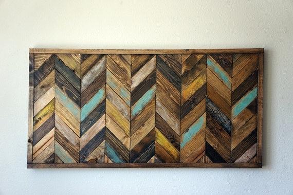 Wood Chevron Wall Art – Catwallart Within Chevron Wall Art (Image 9 of 10)