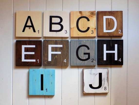 Wood Letter Art Wall Decor Inspirational Scrabble Tiles Scrabble With Regard To Scrabble Wall Art (Image 10 of 10)