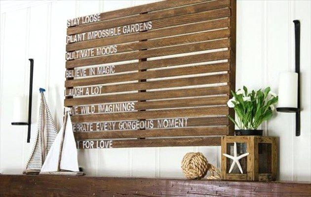 Wood Pallet Wall Decor Fantastic Pallets Wall Art Ideas Photo With Pallet Wall Art (Image 9 of 10)