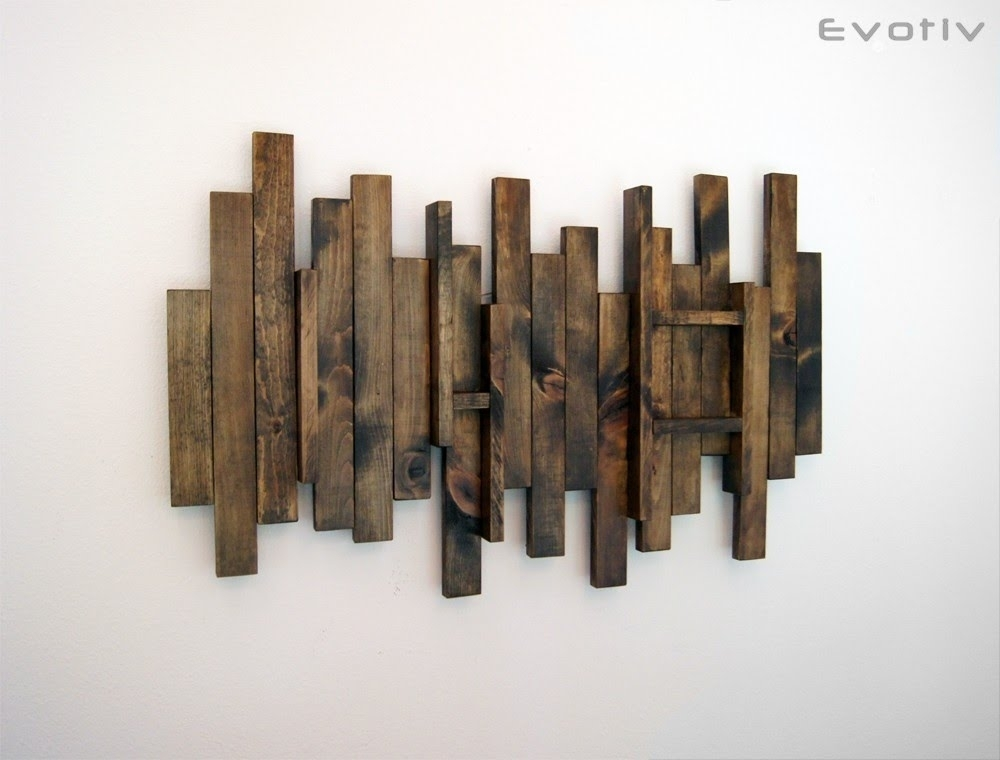 Wood Wall Art – Contemporary Wood Wall Art – Youtube Pertaining To Wood Art Wall (Image 10 of 10)