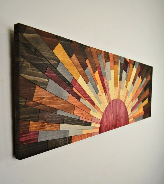 "Wood Wall Art – ""edge Of The Day"" – Wall Art Handcraftedjeremy With Wood Art Wall (Image 9 of 10)"