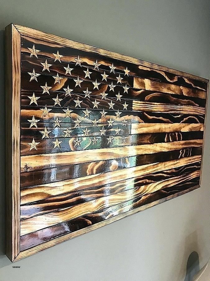 Wooden American Flag Wall Art Large Wooden Flag Wall Art In Wooden American Flag Wall Art (View 5 of 10)