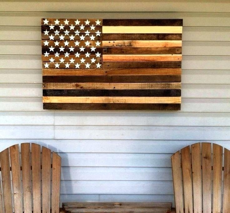 Wooden American Flag Wall Art Pallet Projects That Will Make You In Wooden American Flag Wall Art (Image 7 of 10)