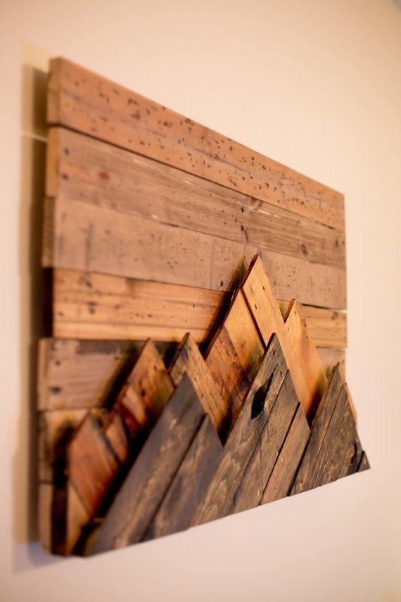 Wooden Mountain Range Wall Art | Decoration | Pinterest | Mountain Intended For Wooden Wall Art (View 2 of 10)