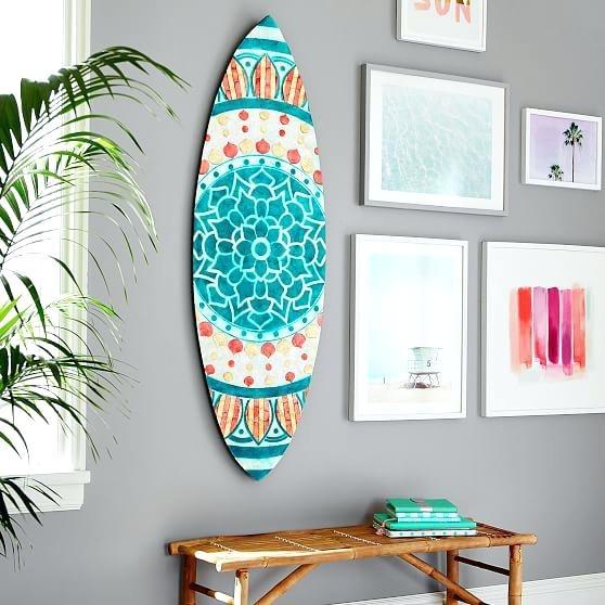 Wooden Surfboard Wall Art Australia Surf Decor Throughout Plans 1 Regarding Surfboard Wall Art (Image 10 of 10)