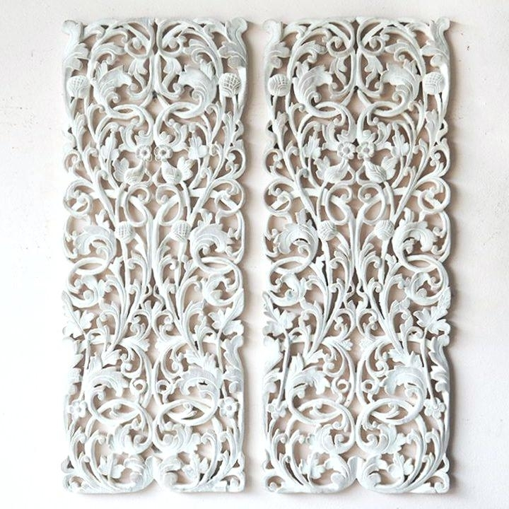 Wooden Wall Art Panels Carved Wood Dog House Designs Carving Large Regarding Carved Wood Wall Art (Image 10 of 10)