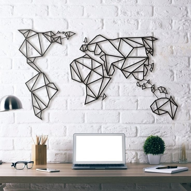 World Map Metal Wall Art | Products To Buy | Pinterest | Steel Throughout Wall Art (Image 10 of 10)