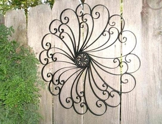 Wrought Iron Outdoor Wall Decor Wall Iron Wall Art Cast Iron Wall Inside Wrought Iron Wall Art (Image 10 of 10)