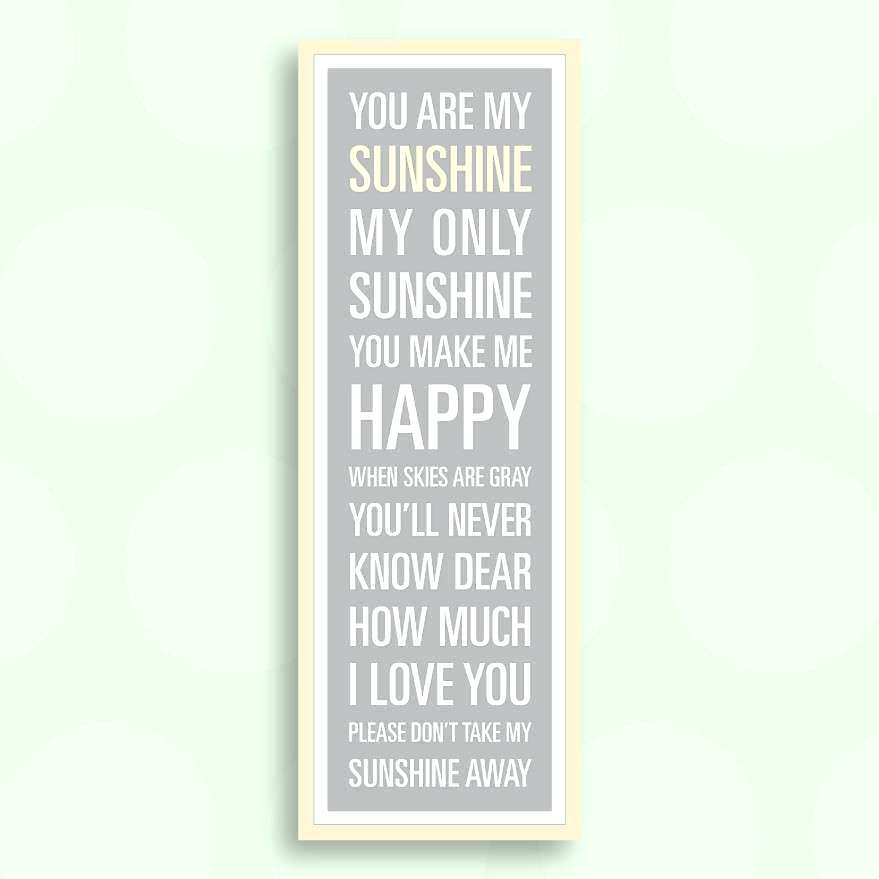 You Are My Sunshine Wooden Wall Art You Are My Sunshine Wooden Wall Inside You Are My Sunshine Wall Art (Image 9 of 10)