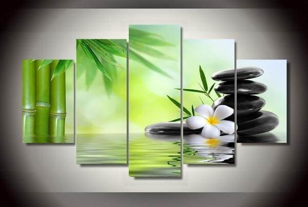 Zen Bamboo Canvas Wall Art Paintings | The Yoga Mandala Shop With Regard To Canvas Wall Art (Image 10 of 10)