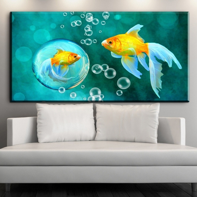 Featured Image of Fish Painting Wall Art