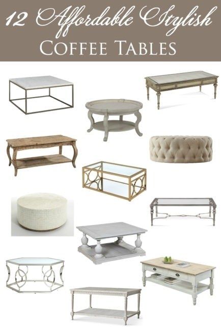 12 Affordable Stylish Coffee Tables Throughout Abby Cocktail Tables (View 22 of 40)