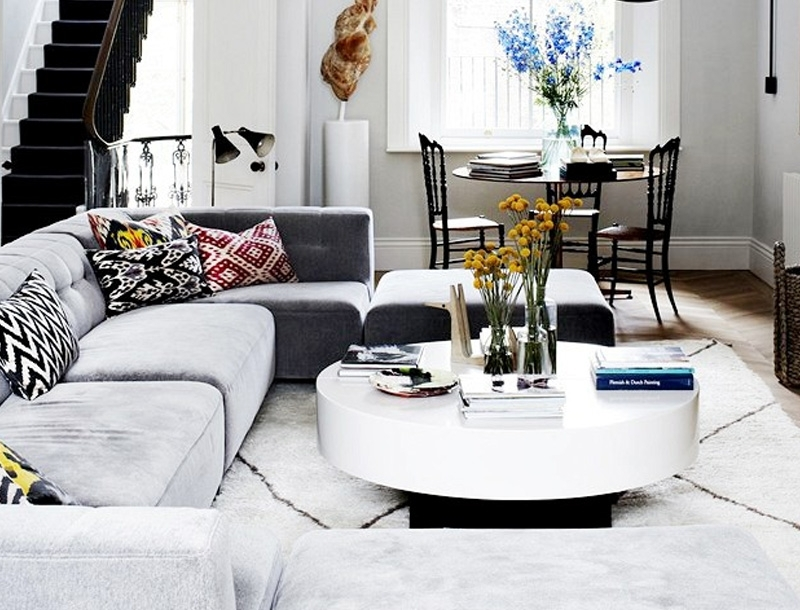 12 Round Coffee Tables We Love – The Everygirl Inside Shroom Large Coffee Tables (View 17 of 40)