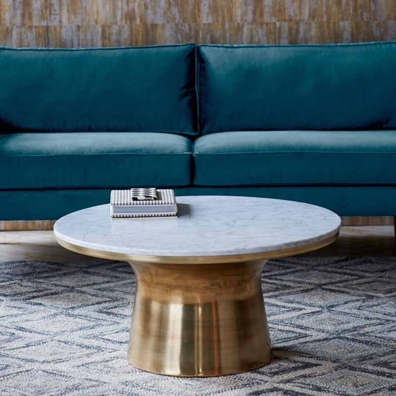 12 Round Coffee Tables We Love – The Everygirl With Regard To Shroom Large Coffee Tables (View 2 of 40)