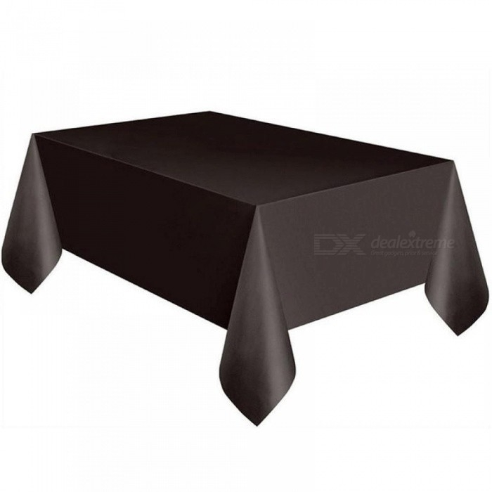137X274Cm Solid Disposable Tablecloth Peva Anti Oil Table Cloth With Regard To Flat Black And Cobre Coffee Tables (Image 3 of 40)