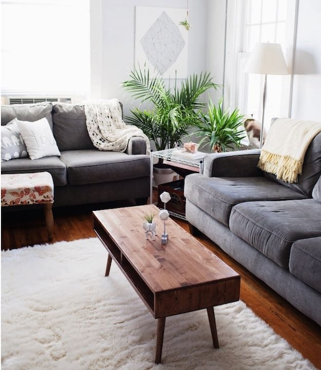 15 Narrow Coffee Table Ideas For Small Spaces | Living Room Ideas Throughout Kai Small Coffee Tables (Image 1 of 40)