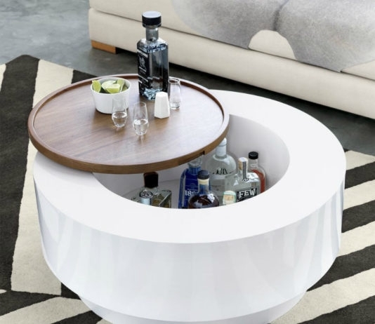 17 Trendy Coffee And Side Tables With Integrated Storage – Living In With Regard To Cody Expandable Cocktail Tables (View 20 of 40)