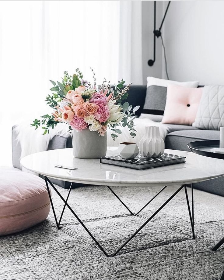 18 White Marble Coffee Tables We Love | Home | Pinterest | Grey With Marble Coffee Tables (Image 2 of 40)