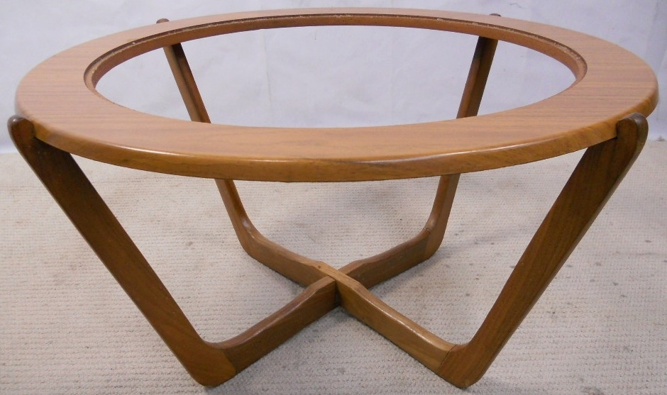 1960 S Retro Teak Wood Round Coffee Table – Sold With Round Teak Coffee Tables (Image 1 of 40)