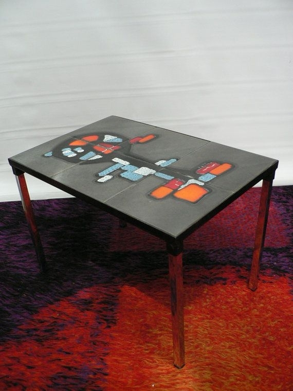 1960S Adri Abstract Expressionist Ceramic Coffee Table / 60S Mid For Expressionist Coffee Tables (Image 2 of 40)