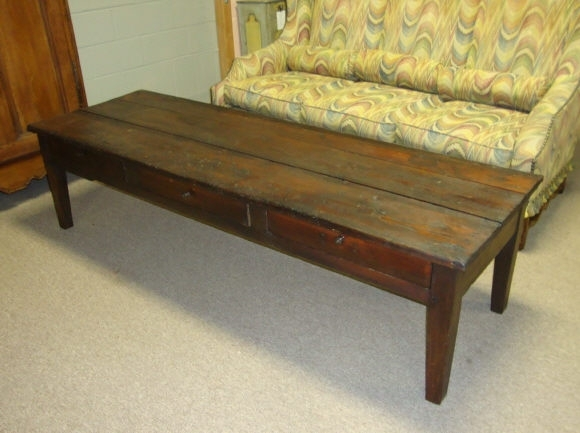 19Th Century French Antique Pine Coffee Table For Sale | Antiques Pertaining To Antique Pine Coffee Tables (Image 1 of 40)