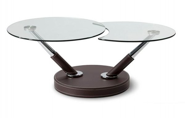 20 Inimitable Styles Of Swiveling Glass Coffee Table | Home Design Lover In Spin Rotating Coffee Tables (Image 1 of 40)