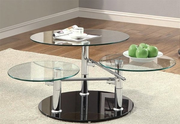 20 Inimitable Styles Of Swiveling Glass Coffee Table | Home Design Lover Regarding Spin Rotating Coffee Tables (Image 2 of 40)