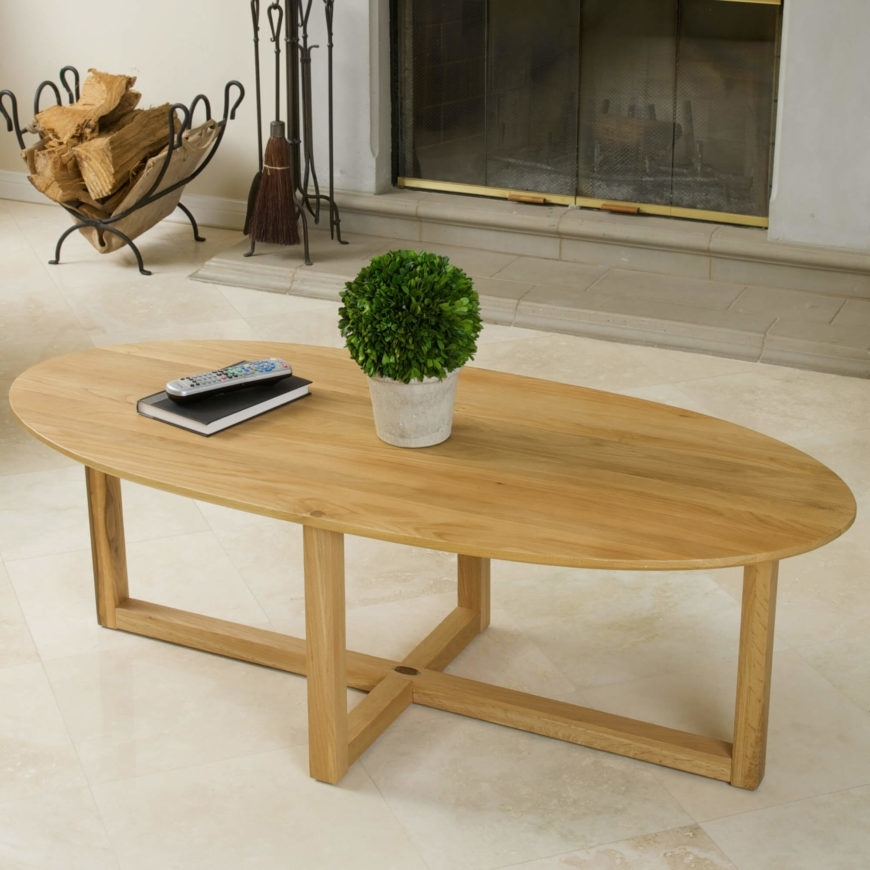 20 Top Wooden Oval Coffee Tables Intended For Light Natural Coffee Tables (View 39 of 40)