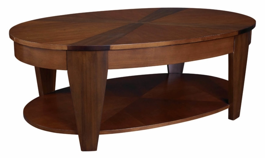 20 Top Wooden Oval Coffee Tables Throughout Suspend Ii Marble And Wood Coffee Tables (Image 1 of 40)
