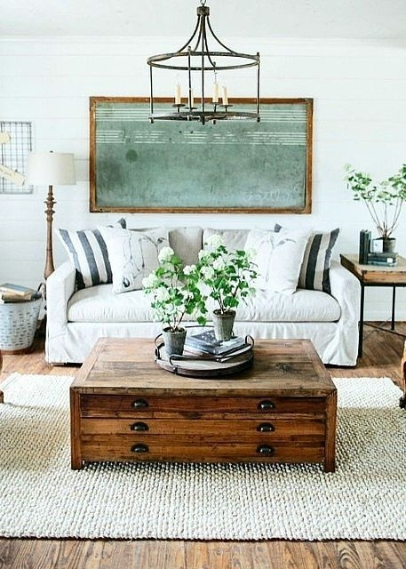 22 Farm Tastic Decorating Ideas Inspiredhgtv Host Joanna Gaines With Regard To Magnolia Home Louver Cocktail Tables (Photo 21 of 39)