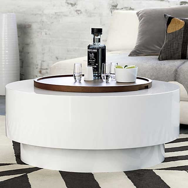 23 Coffee Tables With (Hidden) Storage Space – Vurni Within Spin Rotating Coffee Tables (Image 4 of 40)