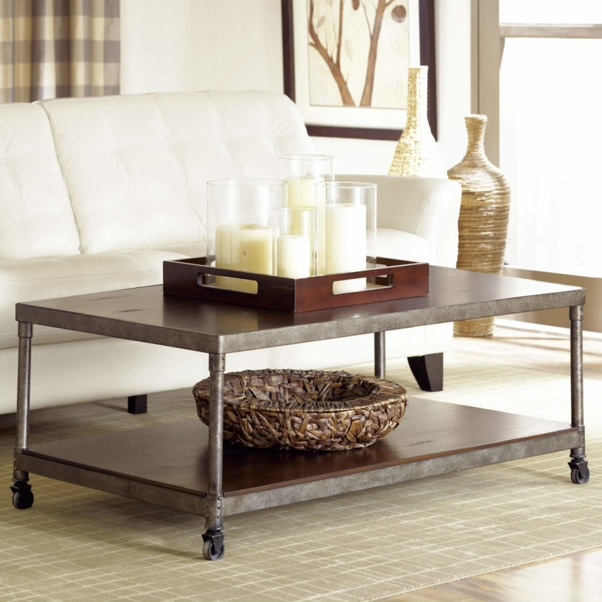 23 Types Of Coffee Tables (Ultimate Buying Guide) Throughout Iron Wood Coffee Tables With Wheels (View 33 of 40)
