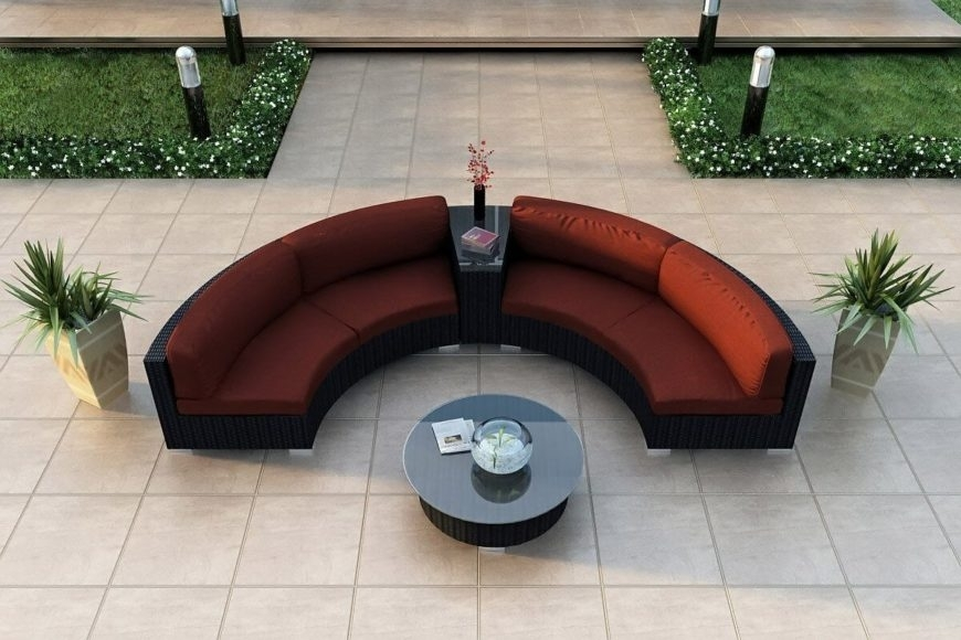 25 Contemporary Curved And Round Sectional Sofas Pertaining To Contemporary Curves Coffee Tables (Photo 25 of 40)