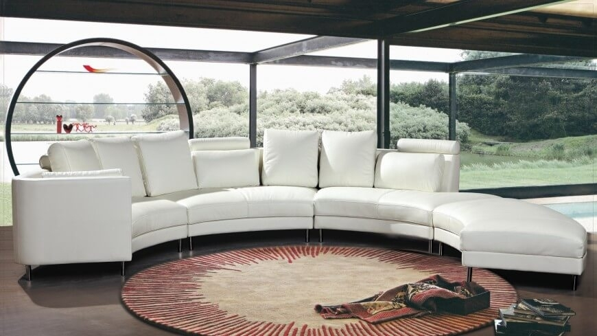25 Contemporary Curved And Round Sectional Sofas With Regard To Contemporary Curves Coffee Tables (View 9 of 40)