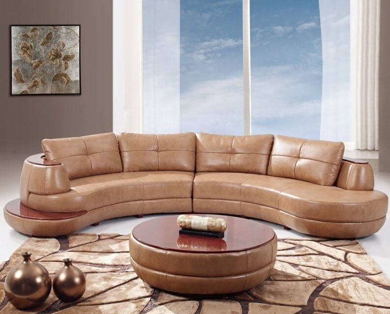 25 Contemporary Curved And Round Sectional Sofas Within Contemporary Curves Coffee Tables (View 30 of 40)