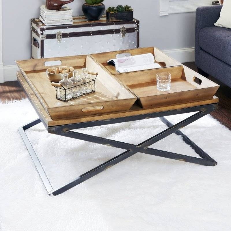25 Luxury Tray Top Coffee Table Ideas – Coffee Table Ideas Throughout Jaxon Cocktail Tables (Image 1 of 40)
