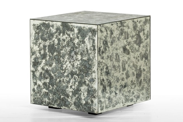 25 Superchic Side Tables Photos | Architectural Digest In Aged Iron Cube Tables (Image 2 of 40)