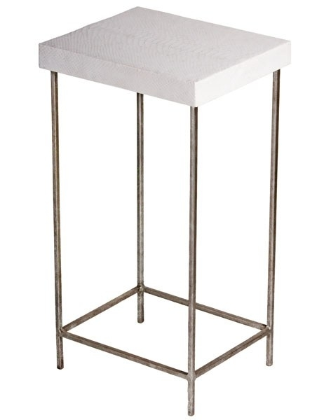 25 Superchic Side Tables Photos | Architectural Digest Within Aged Iron Cube Tables (Image 4 of 40)