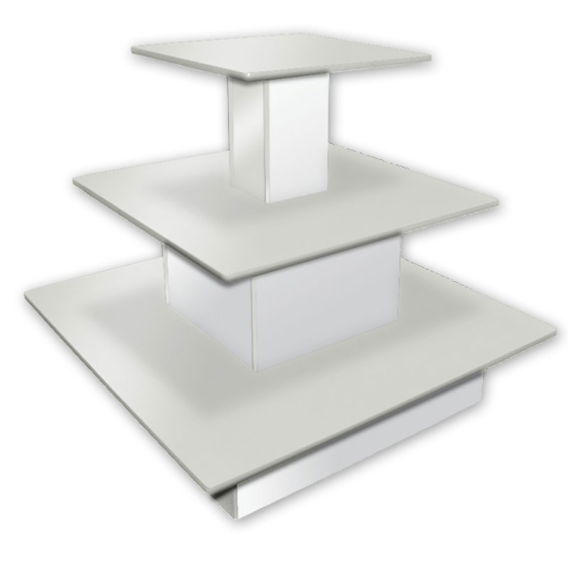 3 Tier Square Waterfall Table White Throughout Square Waterfall Coffee Tables (View 33 of 40)