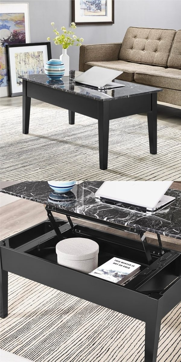 33 Beautiful Lift Top Coffee Tables To Help You Declutter & Multi Task In Laurent Lift Top Cocktail Tables (Image 7 of 40)