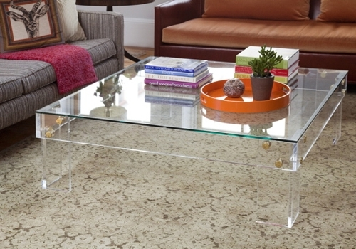 33 Stylish Ideas Square Lucite Coffee Table Tables Image And In Disappearing Coffee Tables (Image 1 of 40)