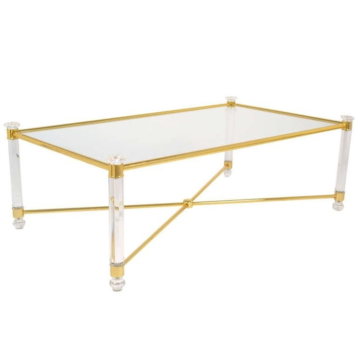 38 Best Modern Lucite Glass And Brass Coffee Tables Images On Lucite Throughout Acrylic Glass And Brass Coffee Tables (View 40 of 40)