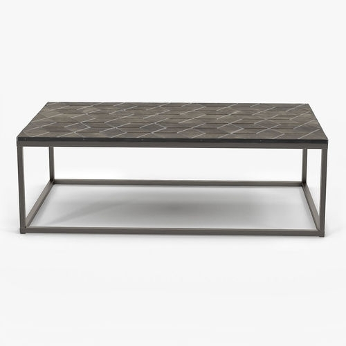 3D Restoration Hardware Metall Parquet Coffee Table Regarding Parquet Coffee Tables (Image 2 of 40)